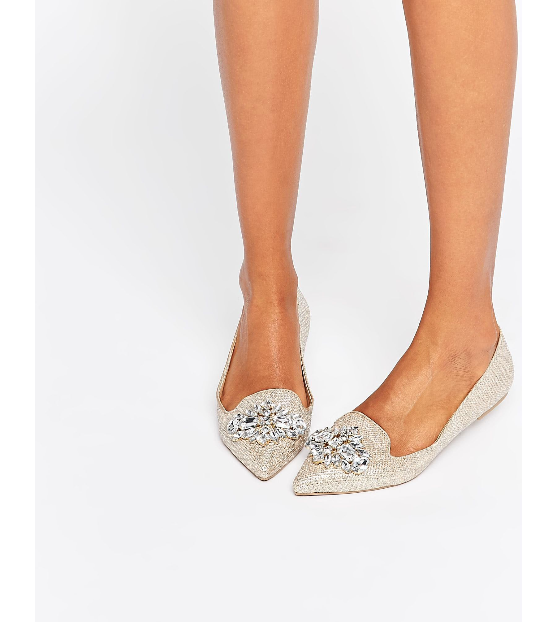 Dune Head Over Heels Flat Pointed Shoes