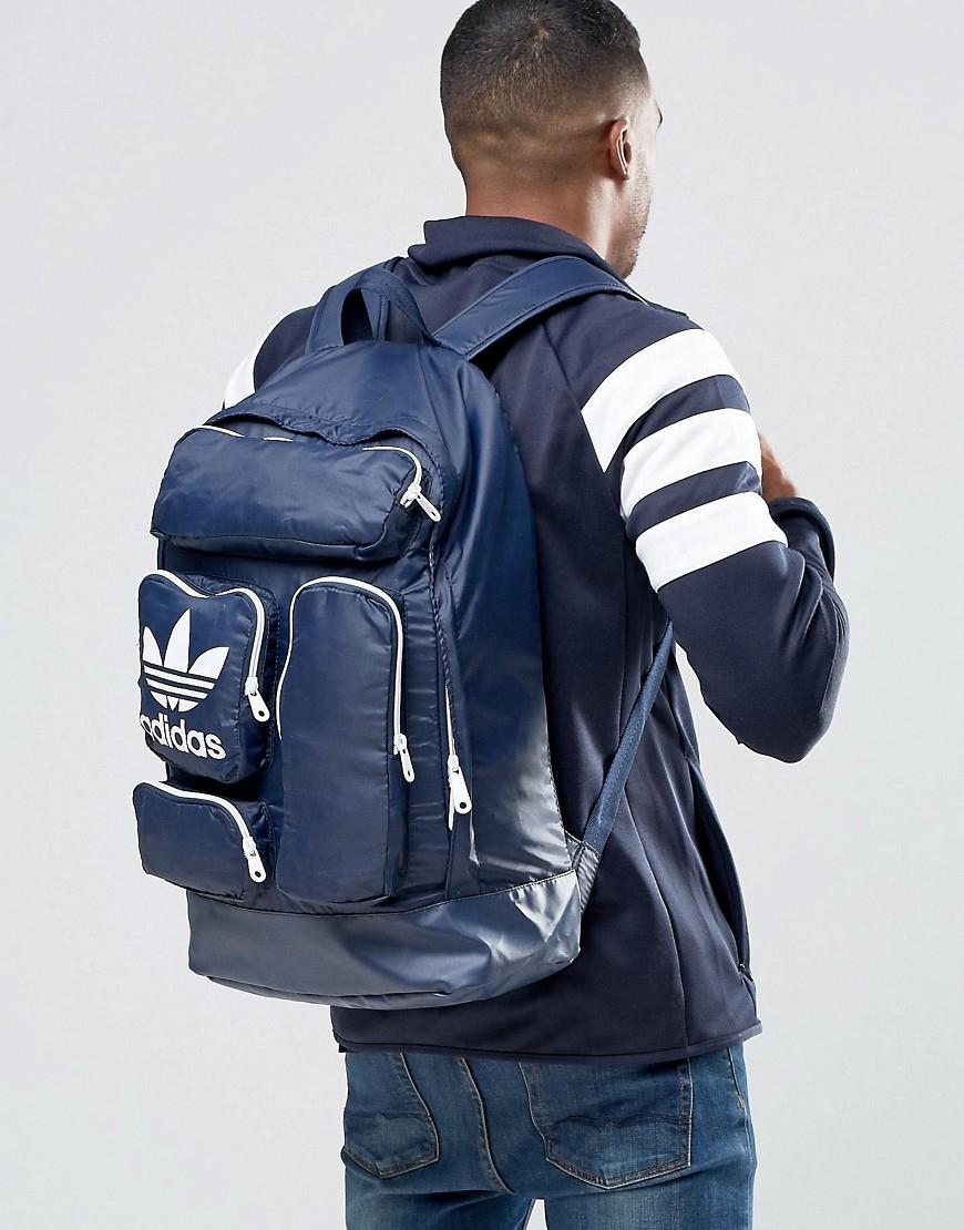 affe4cfea57b Adidas Originals Blue Backpack Patch for men
