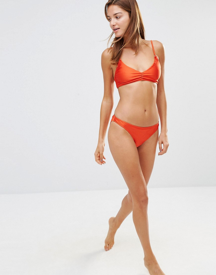 Warehouse Low Rise Bikini Brief in Orange