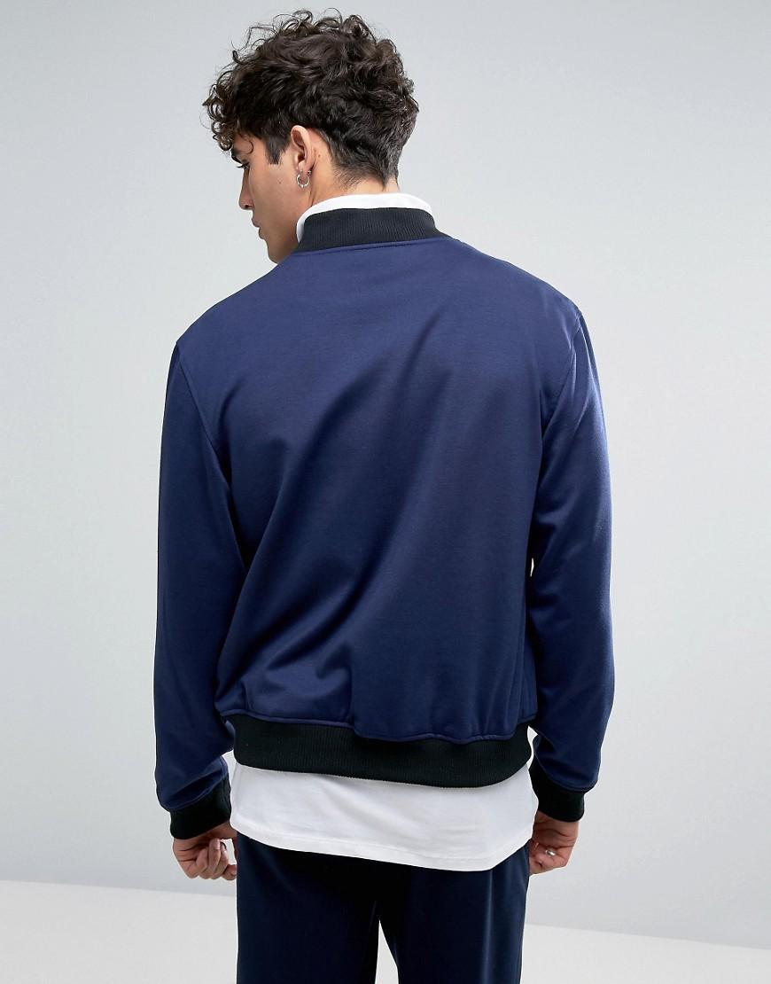 Rudie Synthetic Formal Bomber Jacket In Navy in Blue for Men