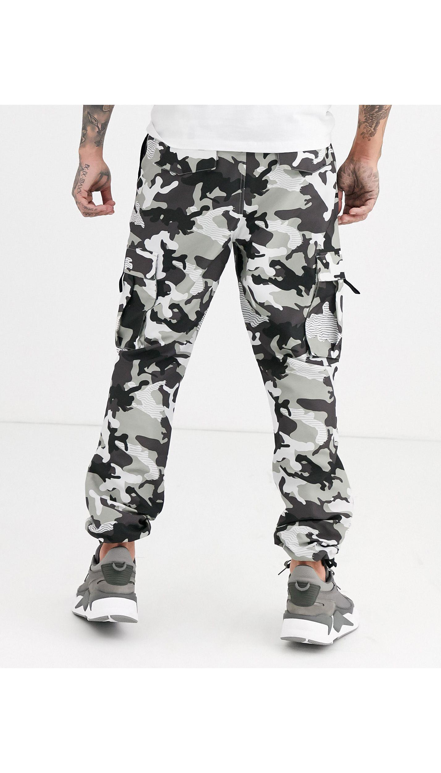 PUMA Cotton Xtg Trail Camo Cargo Pants in Black for Men - Lyst