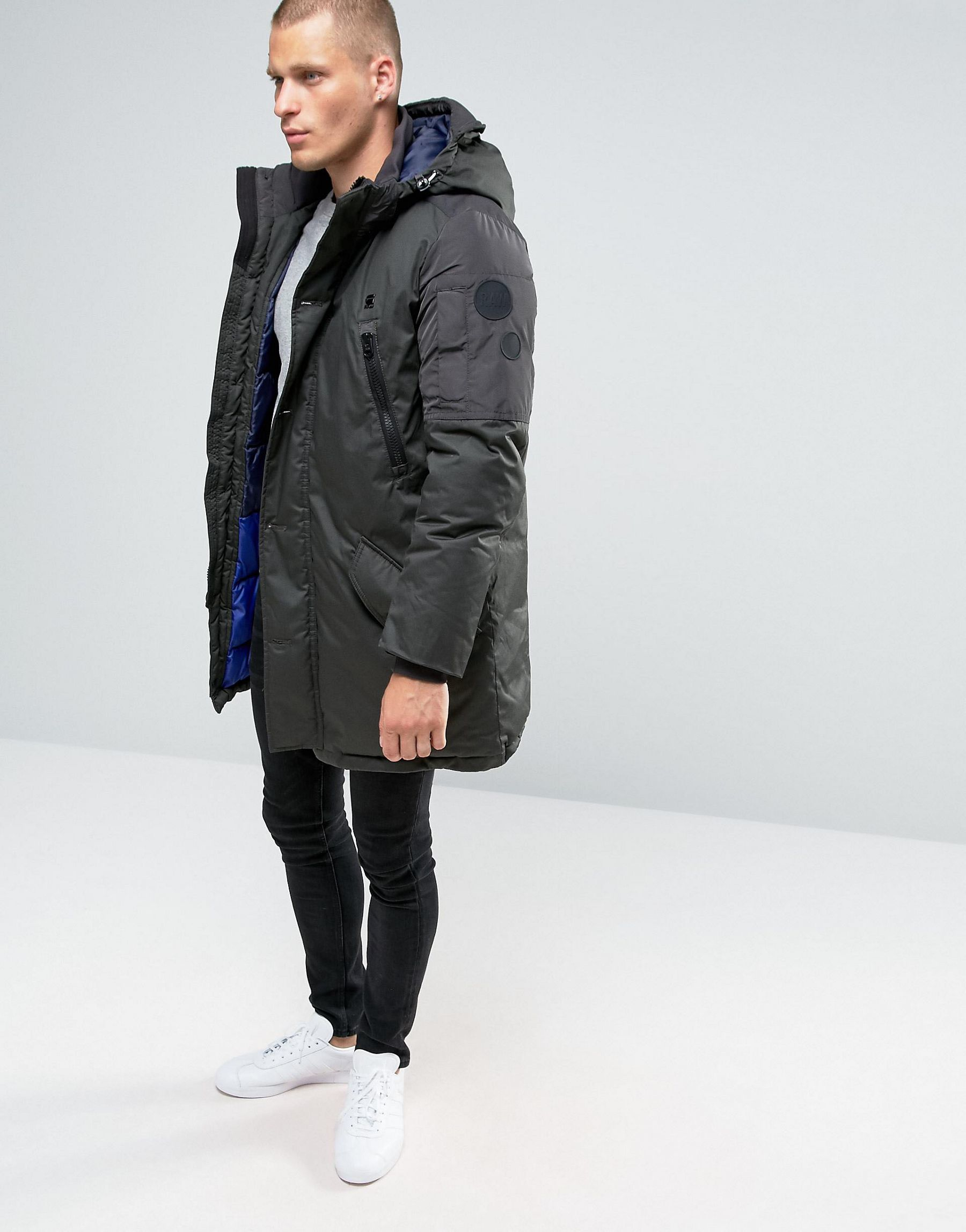 Lyst G Star Raw Whistler Hooded Parka Jacket In Black