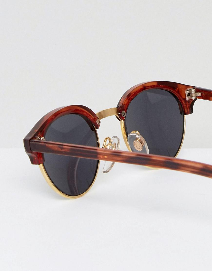 Reclaimed (vintage) Inspired Retro Sunglasses In Tort in Brown for Men