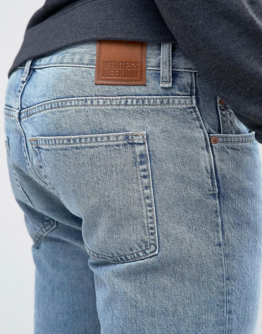 Weekday Denim Friday Skinny Fit Jeans Wow Blue for Men