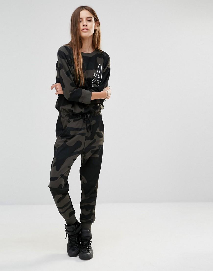 g star raw ceithim camoflage logo jumpsuit multi in black lyst. Black Bedroom Furniture Sets. Home Design Ideas