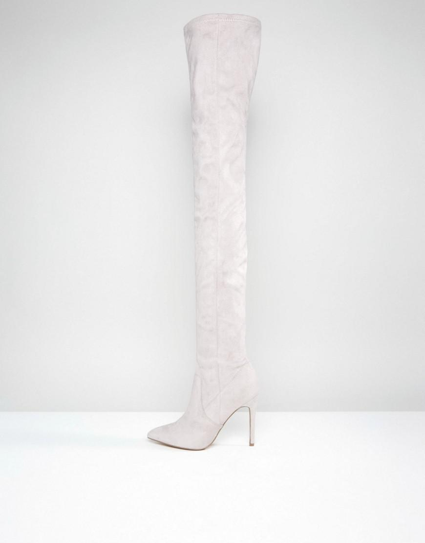 d1be5d27b15 ASOS Gray Asos Kendra Point Over The Knee Boots