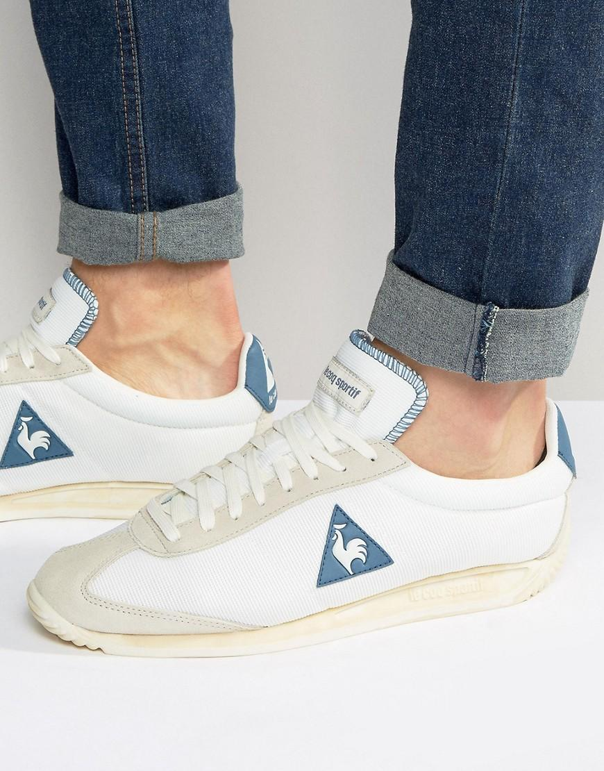 01a933f7179 Lyst - Le Coq Sportif Quartz Vintage Trainers In White 1611758 in ...