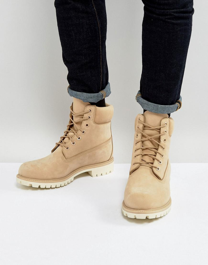 451ecdfc7f22 Timberland Classic 6 Inch Premium Boots In Beige in Natural for Men ...