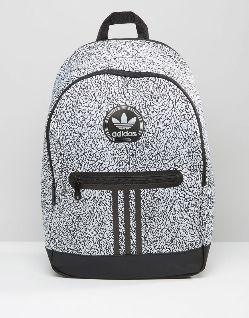 Lyst - adidas Originals Backpack With Print In Black Ay7837 - Black ... dec5fafbdc42c