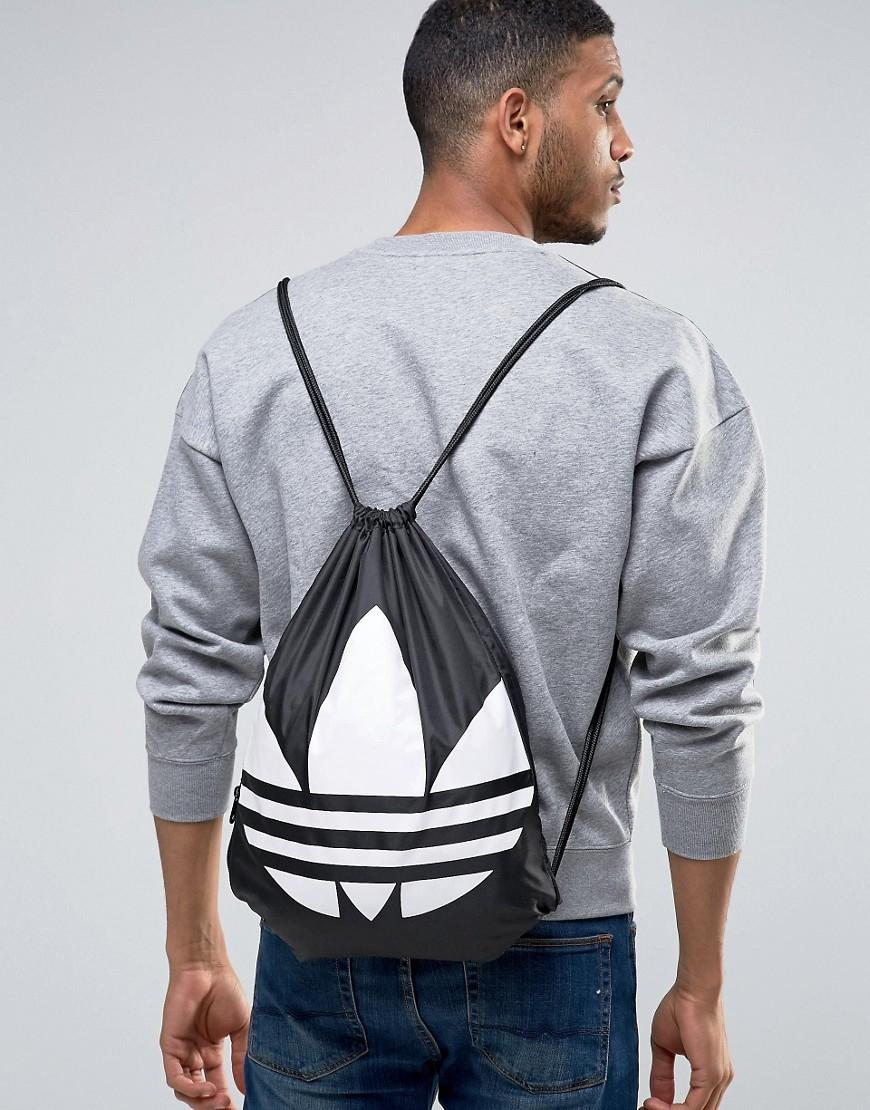 0beff2a7c6 Lyst - adidas Originals Drawstring Backpack In Black Aj8986 in Black for Men