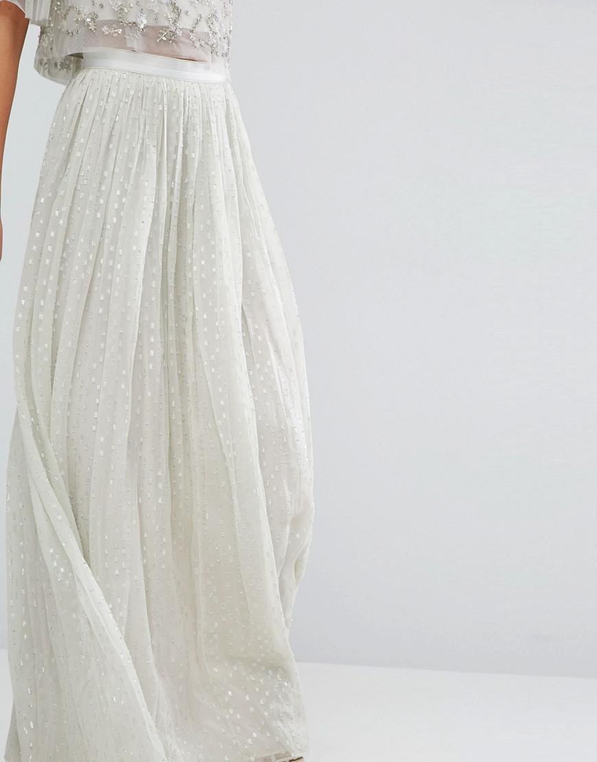 5e9cc70dca5b2 Green Chiffon Maxi Skirt | Saddha