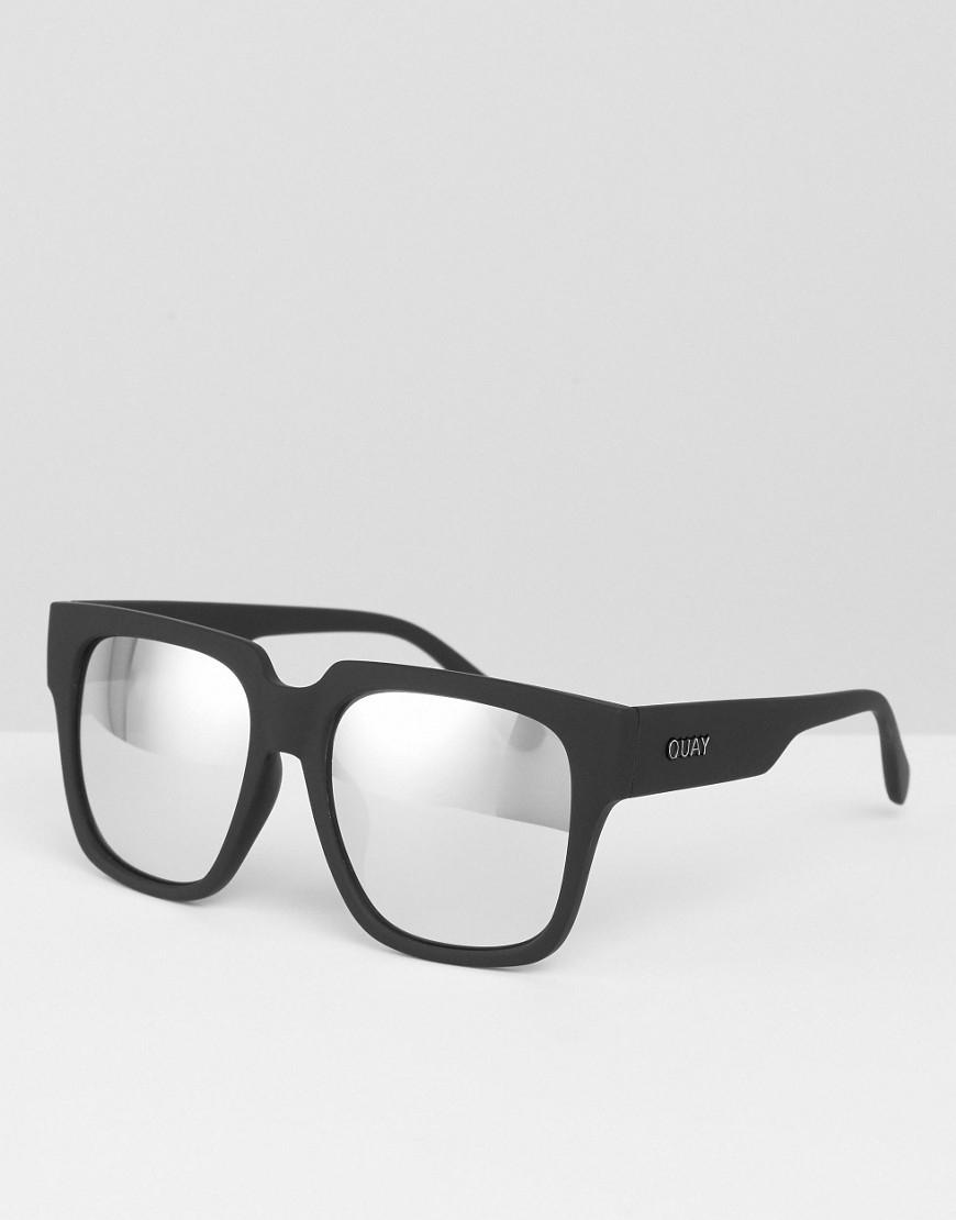 b509e4b69c Quay Midnight Runner Sunglasses - Black silver Mirror in Black - Lyst