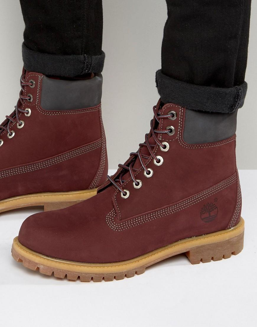 Timberland Classic Premium Boots in Red for Men | Lyst
