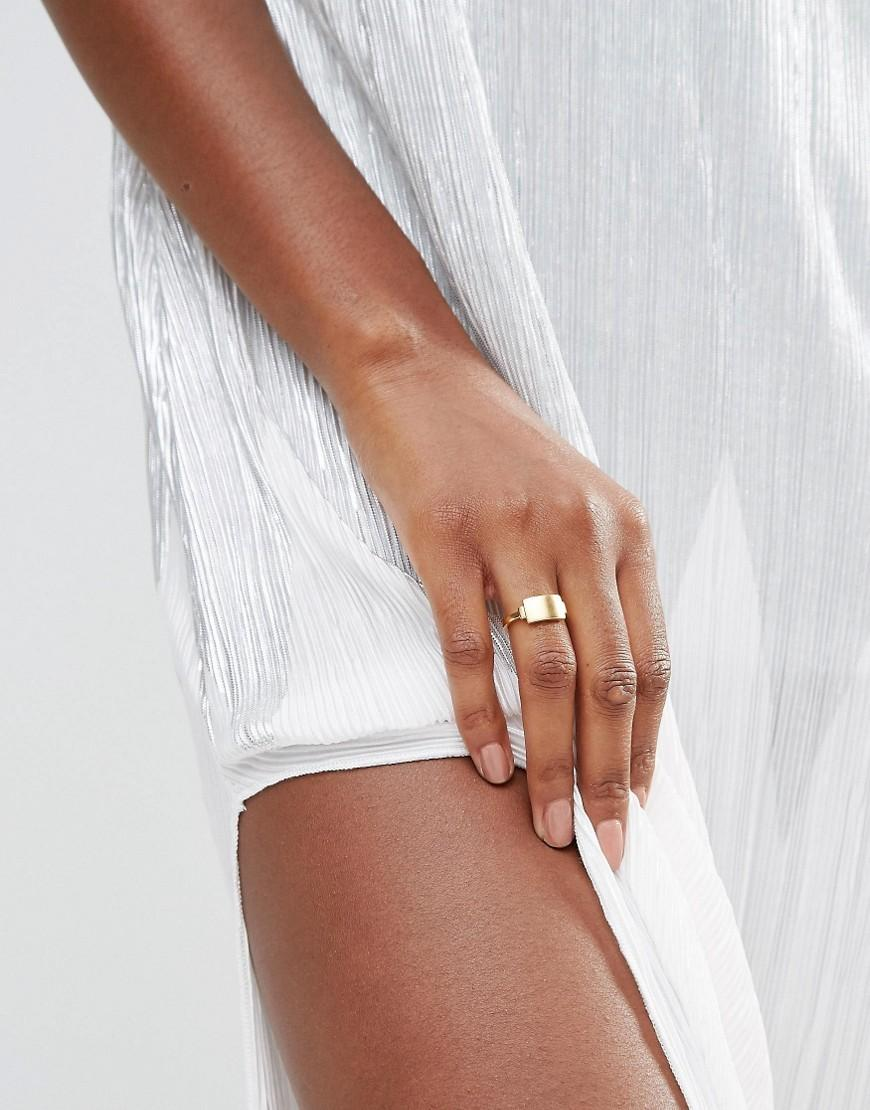 Pieces & Julie Sandlau Gold Plated Jana Ring in Metallic