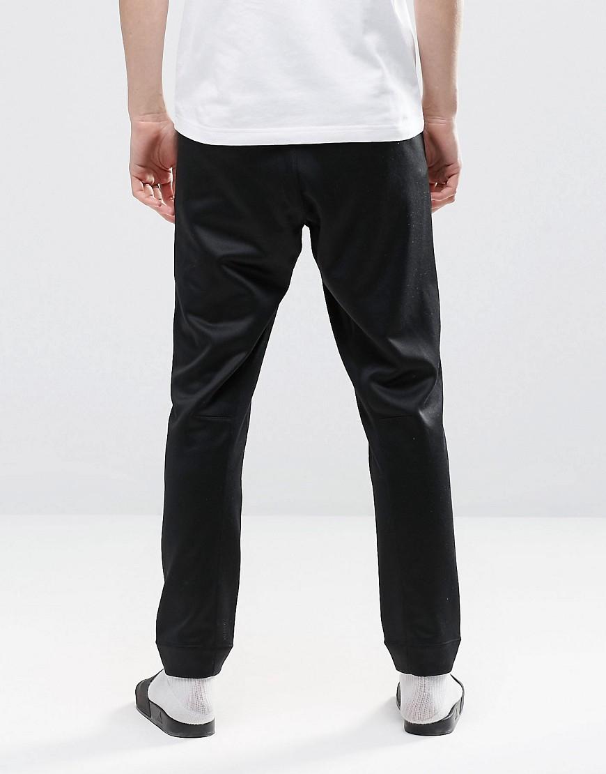 adidas Originals Cotton Blk/wvn Skinny Joggers In Black Bq3550 for Men