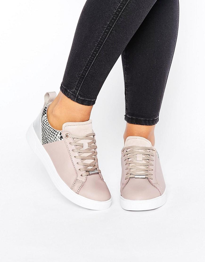 Ted Baker Kulei Nude Leather Sneakers