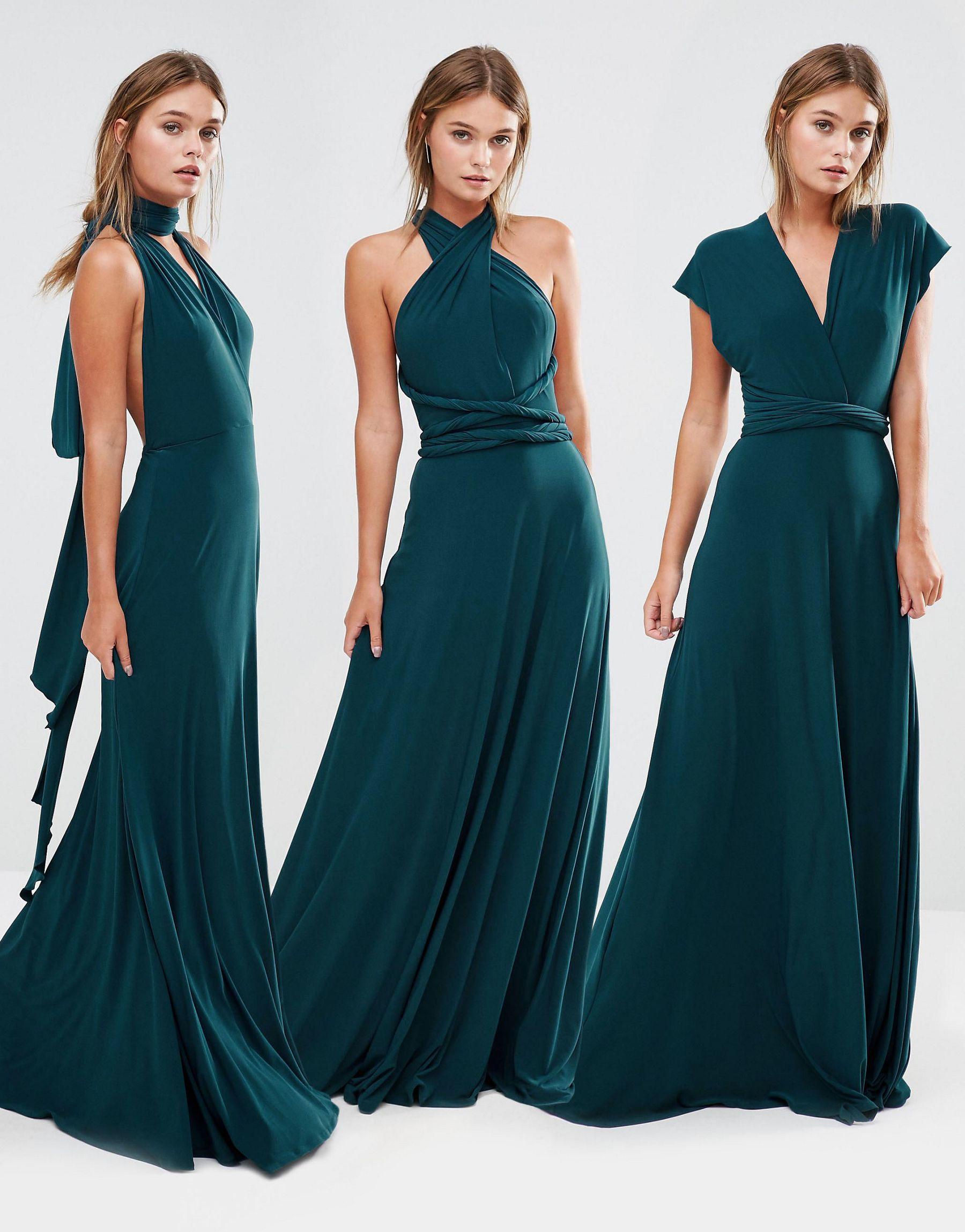 Coast Corwin Multiway Maxi Dress In Green Lyst