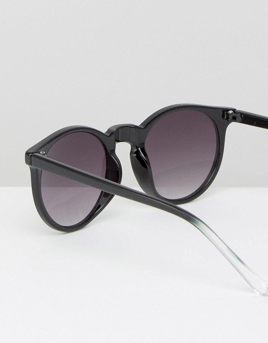 Pieces Round Sunglasses In Black - Black