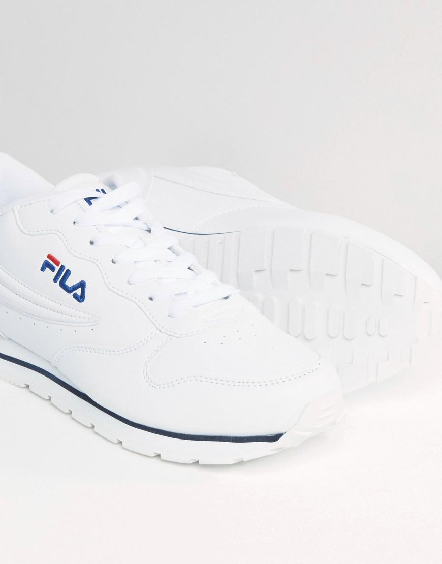 Fila White Vintage Orbit Low Trainers for men