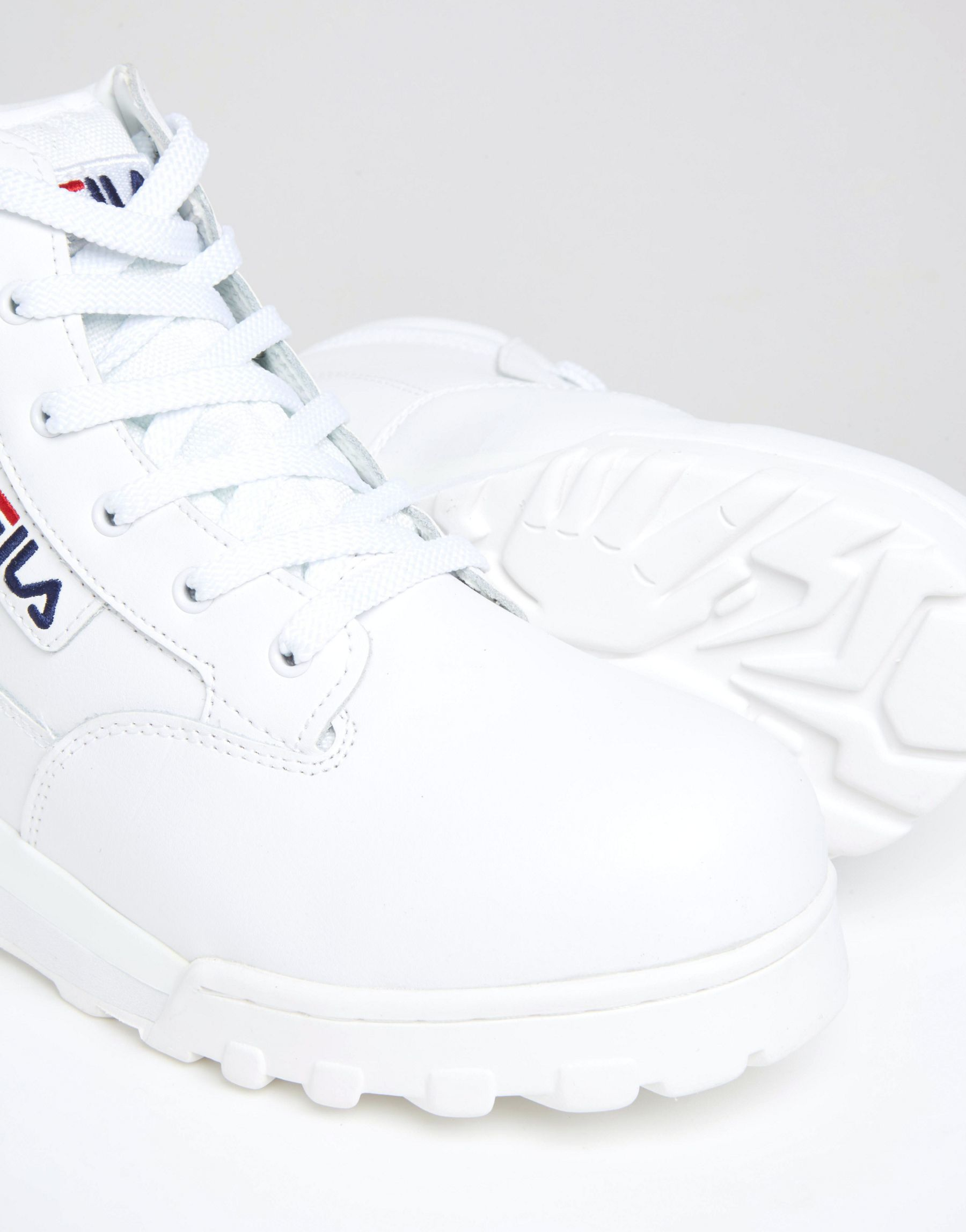 55335567c002 Lyst - Fila Grunge Mid Laceup Boots in White for Men