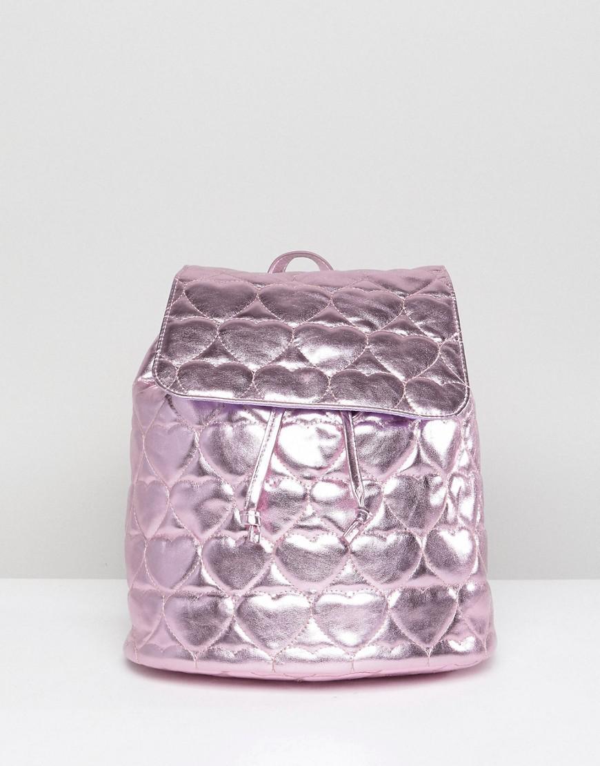 9c7c16b42f75 Metallic Quilted Heart Backpack - Lyst. View fullscreen big sale 1b0b9  f1fcf  adidas Originals ...