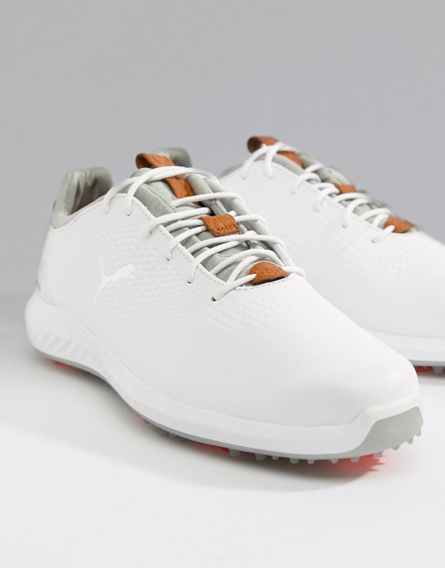 PUMA Golf Ignite Pwradapt Lux Spike Trainers In White 19058101 in ... 31138386c