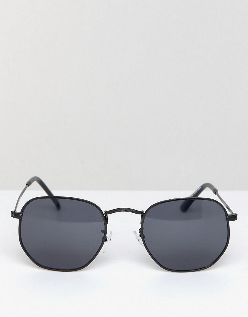 A.J. Morgan Garner Round Sunglasses In Black for Men
