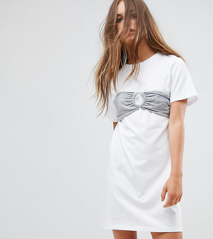 Buy Cheap Real Free Shipping Get To Buy Oversized T-Shirt Dress with Bra Top - White Urban Bliss Very Cheap For Sale Reliable For Sale n3xGIwe7u