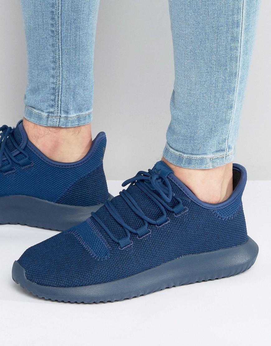 Adidas Originals Tubular Shadow Knit Sneakers In Blue Bb8825 For