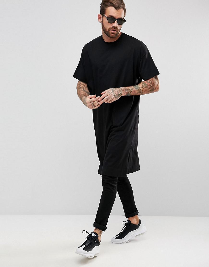 c845fe545 ASOS Extreme Longline Oversized T-shirt In Black in Black for Men - Lyst