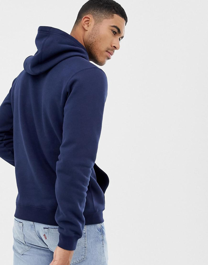 ba9dc7cfdd59 Nike Embroidered Logo Hoodie In Navy Aq7137-451 in Blue for Men - Save 45%  - Lyst