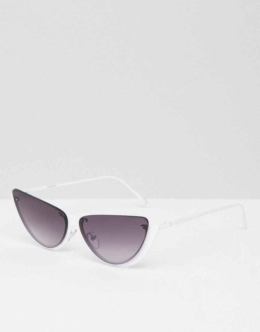 cf96885ee232e Asos Sliced Top Extreme Cat Eye Sunglasses in White - Lyst