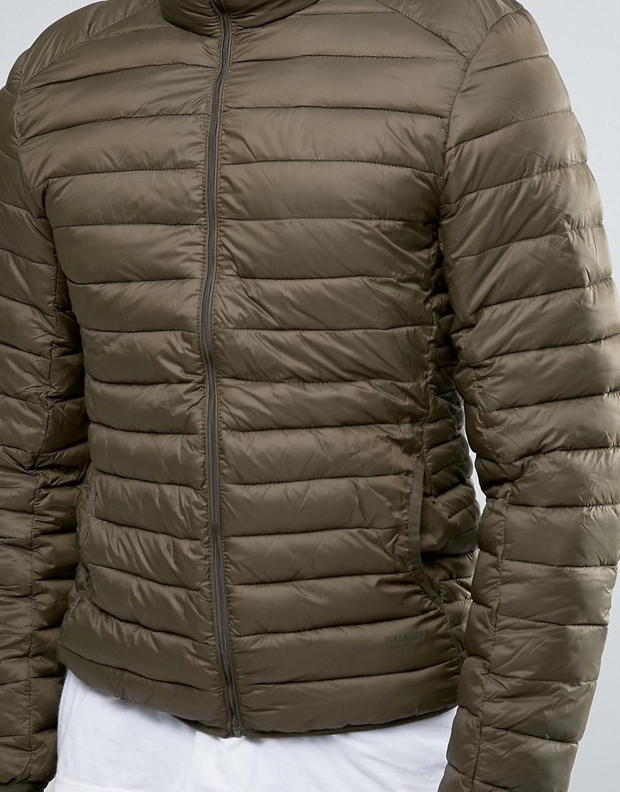 Pull Amp Bear Puffer Jacket In Khaki In Green For Men Lyst