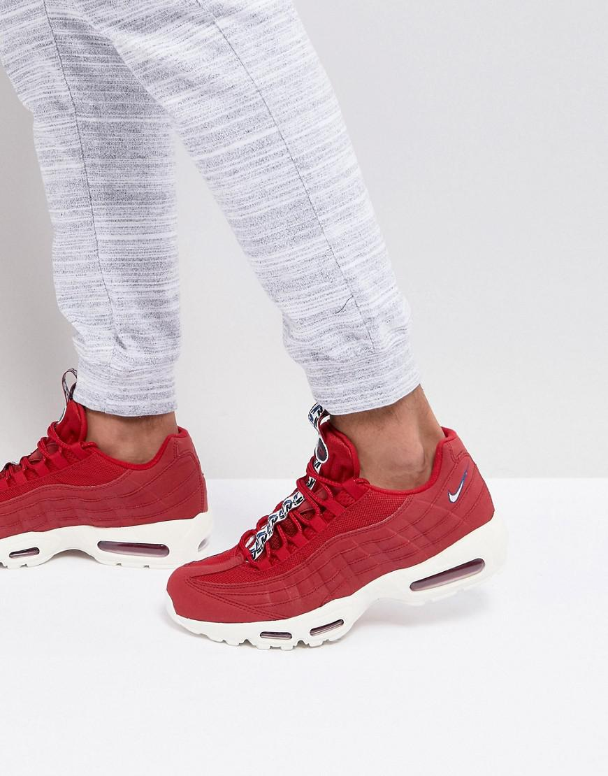 differently 6d44f e132f ... order nike air max 95 tt trainers in red aj1844 600 in red for men lyst  ...