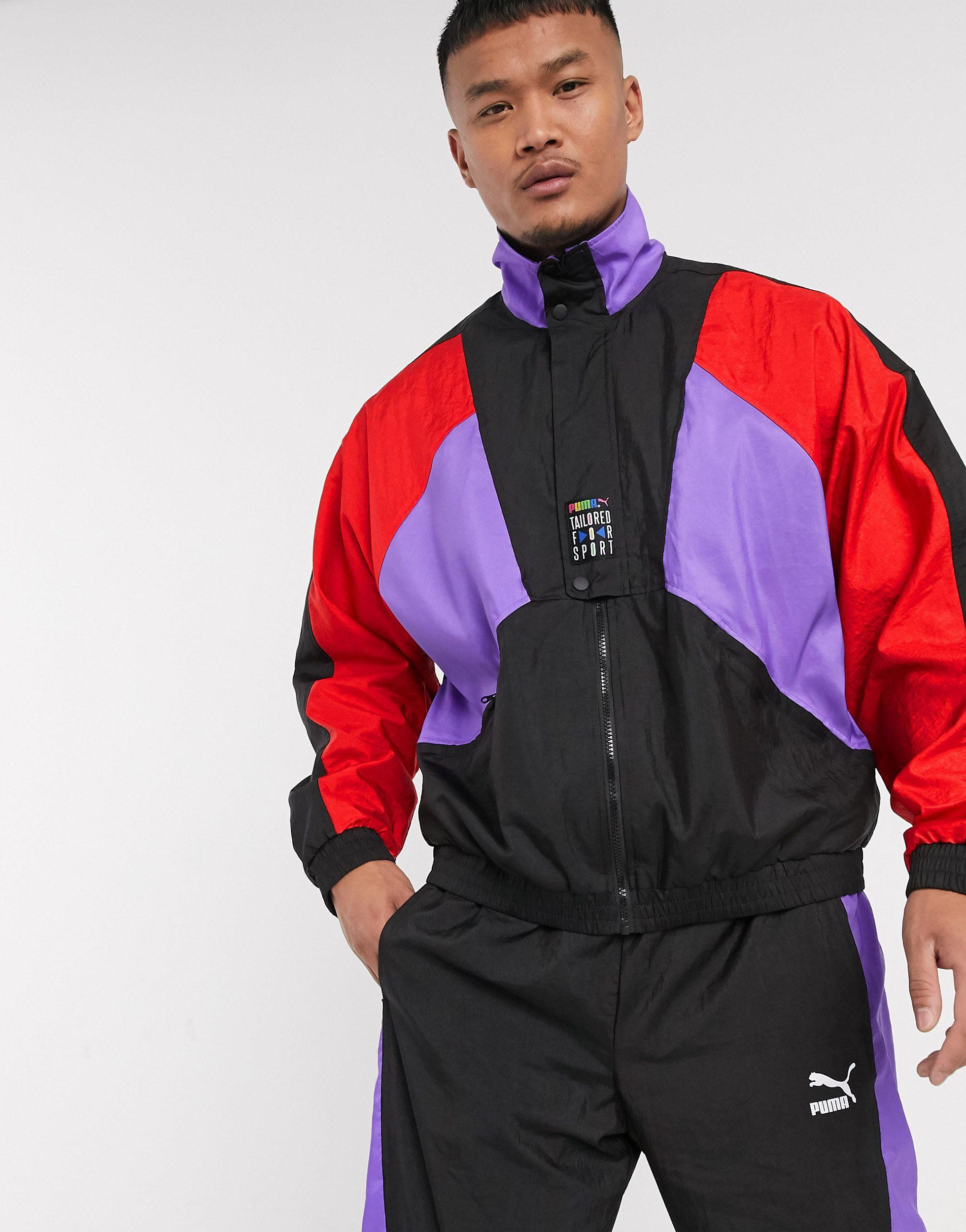 PUMA Synthetic Tfs Og Half Zip Track Jacket in Black for Men - Lyst