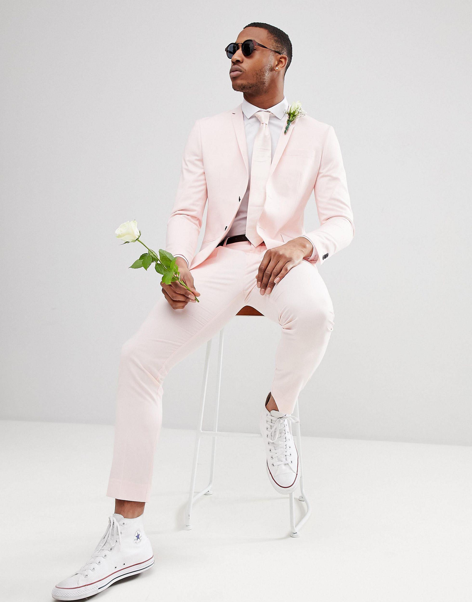 Jack & Jones Denim Premium Skinny Pantalon in het Roze voor heren