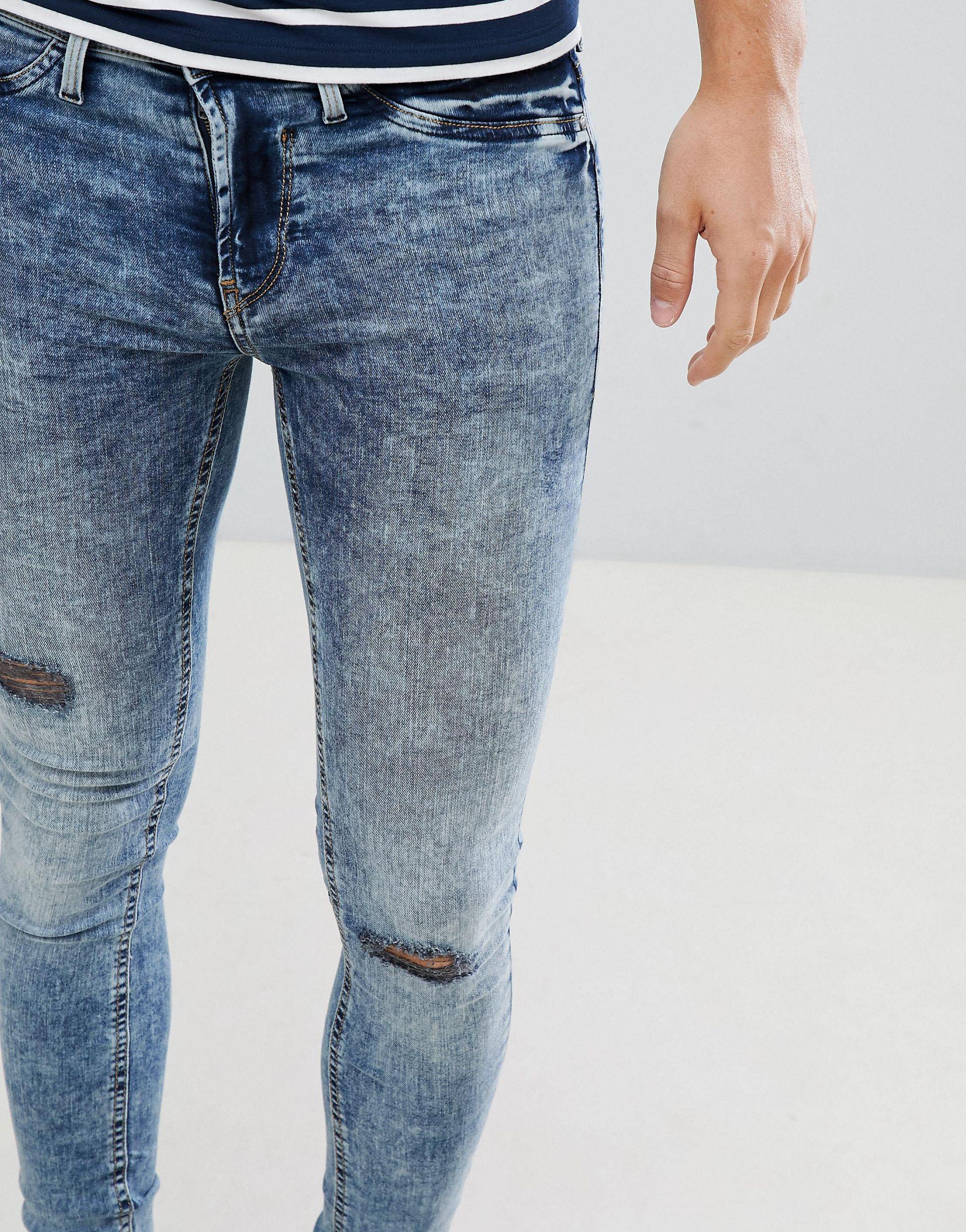 Blend Denim Flurry Muscle Fit Jeans in Blue for Men