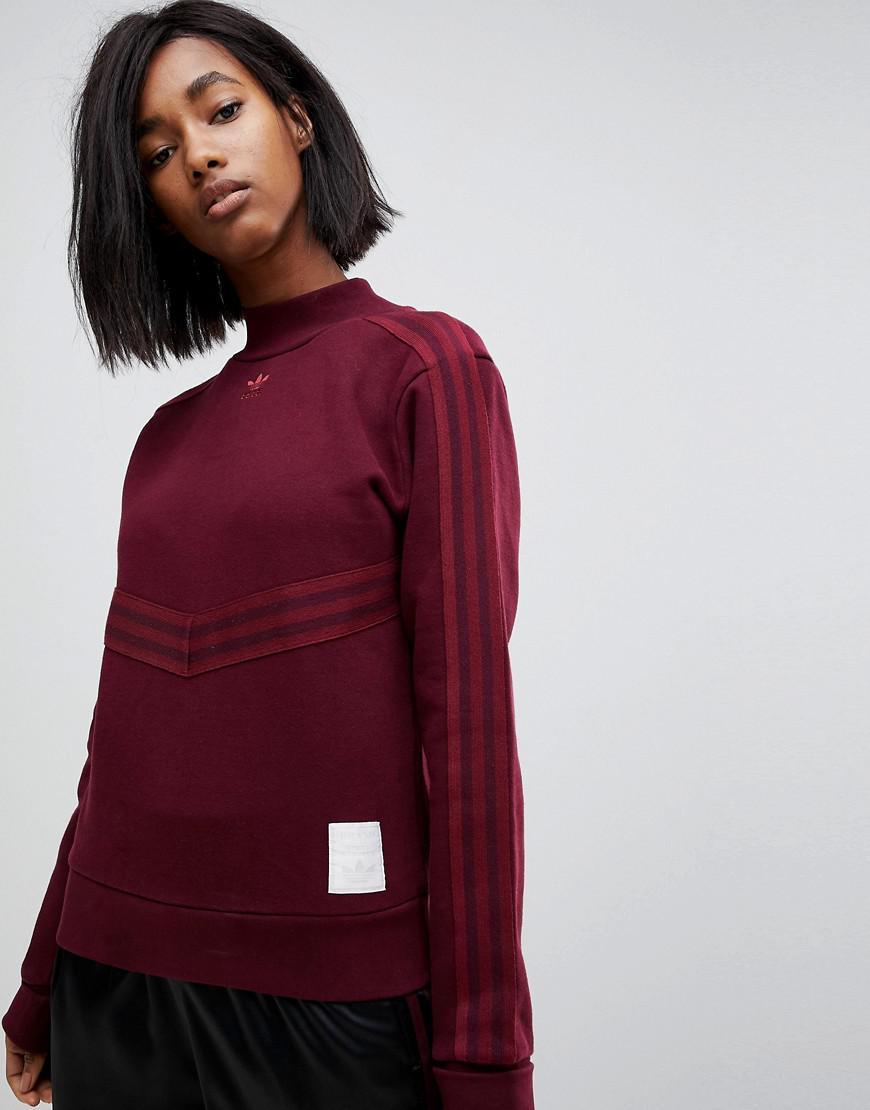 uk cheap sale buy cheap cheaper Originals Adibreak High Neck Sweatshirt In Maroon
