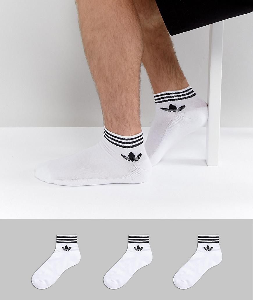 wholesale outlet running shoes best sneakers 3 Pack Ankle Socks In White Az6288