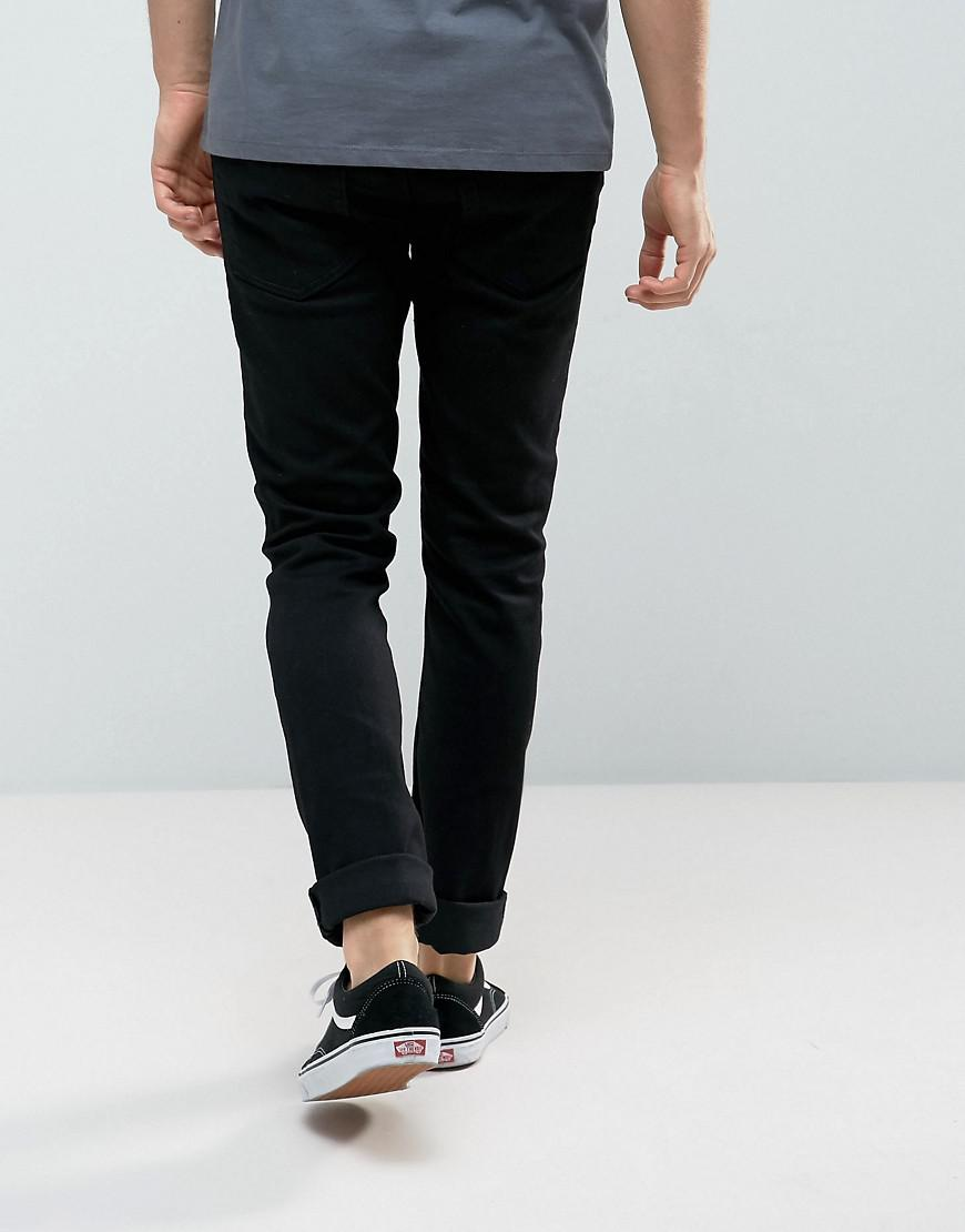 French Connection Denim Stretch Slim Jeans in Black for Men