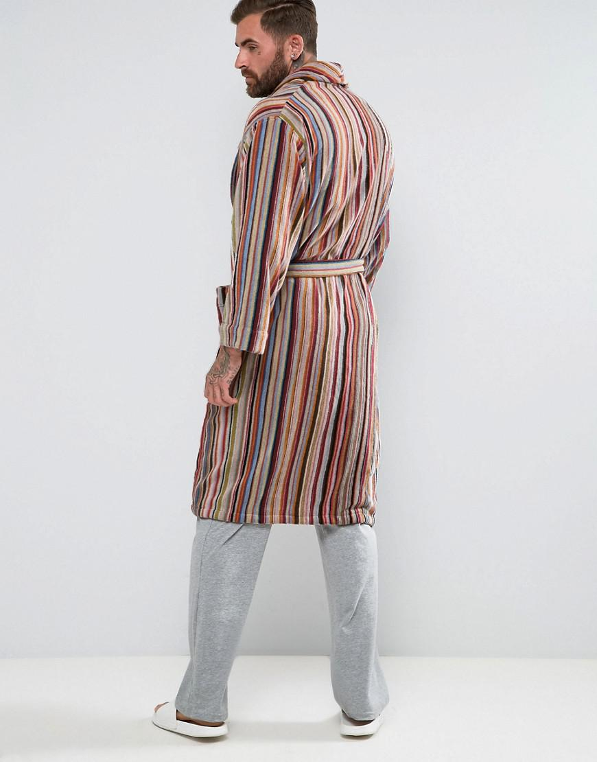 Paul Smith Signature Stripe Dressing Gown In Multi for Men - Lyst