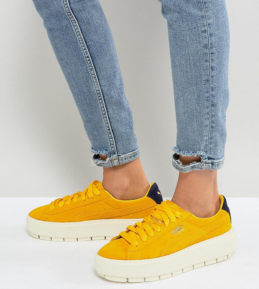 reputable site b7f10 35e52 PUMA Platform Trace Trainers In Yellow