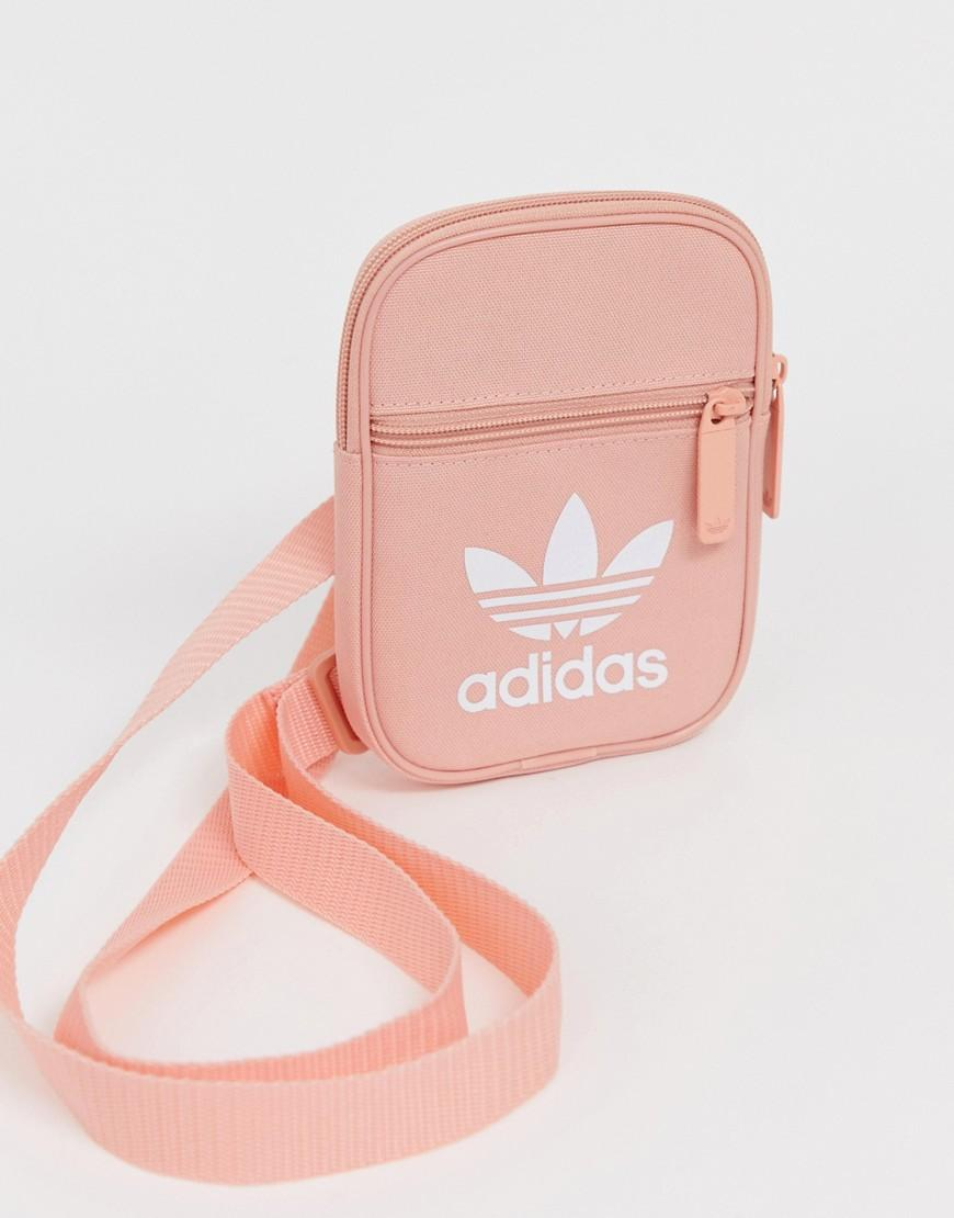 Adidas Originals Pink Festival Mini Multiway Bag With Trefoil Logo