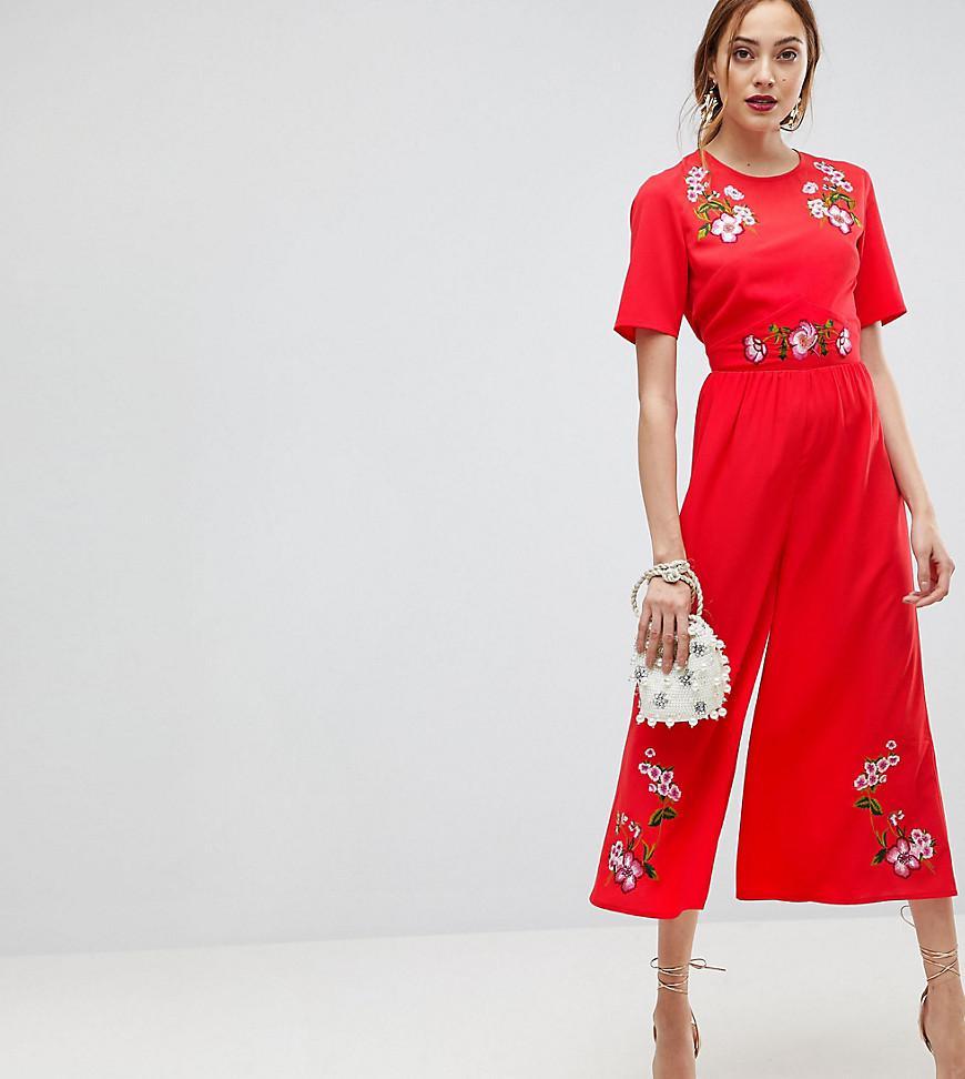 dc592fd525023 Women's Embroidered Tea Jumpsuit