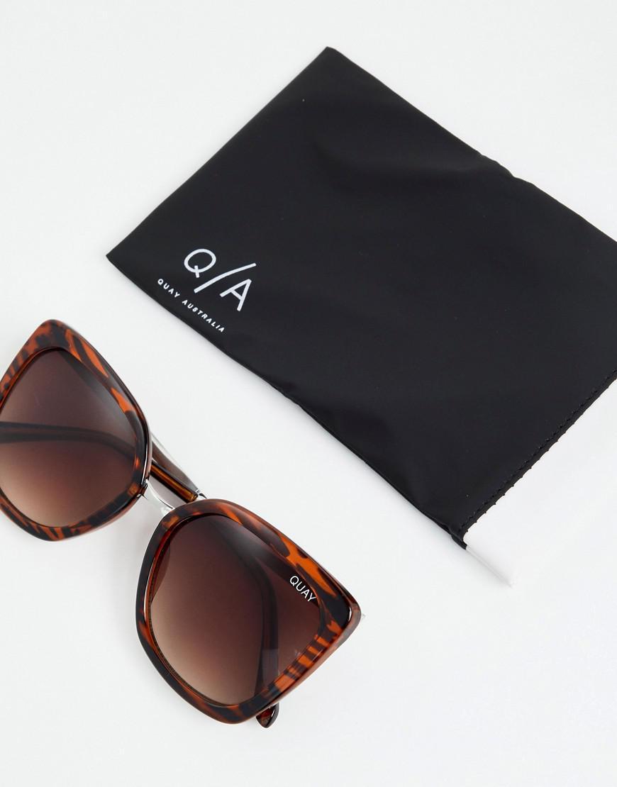 cd95ed6693a88 Quay Capricorn Square Frame Sunglasses in Brown - Lyst