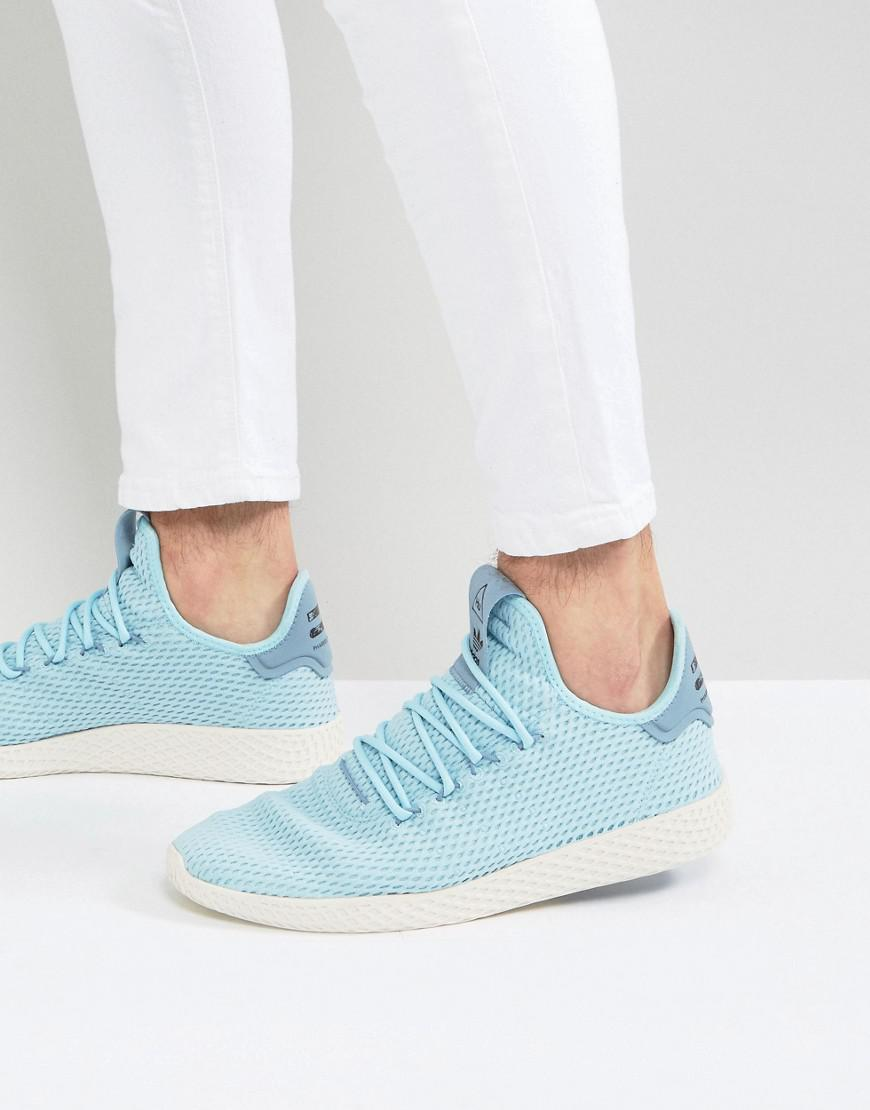 quality design 9a281 8fd20 adidas Originals X Pharrell Williams Tennis Hu Trainers In Blue ...