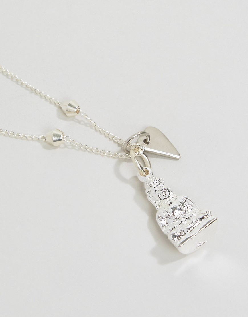 Sam Ubhi Buddha Necklace - Silver in Metallic
