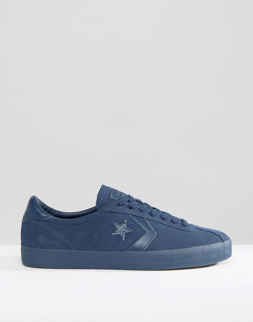 Converse Suede Break Point Trainers In Blue 153987c-410 for Men
