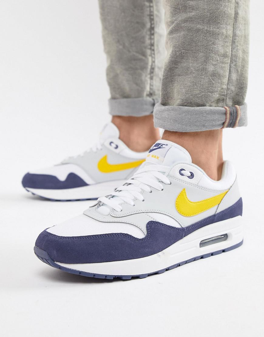 huge discount 4a0a9 c77de Nike Air Max 1 Trainers In White Ah8145-105 in White for Men