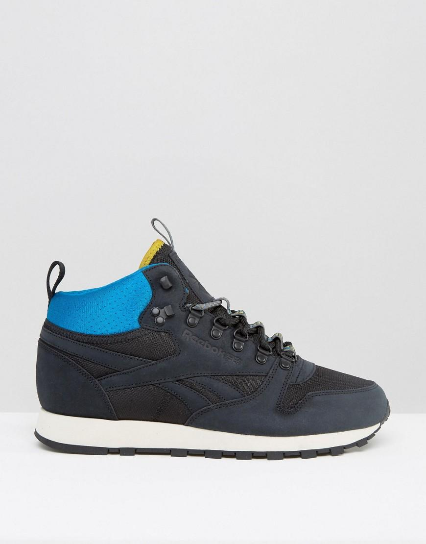 Reebok Classic Leather Mid Winter Trainers In Black Aq9665 for Men